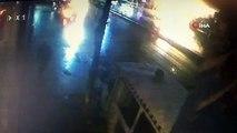 Beyoğlu'nda otomobilin çarptığı turist hayatını kaybetti. O anlar kamerada