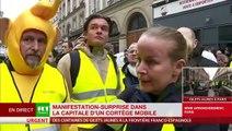 """Gilets jaunes - """"Brigitte Macron à poil sur un tas de palettes"""": La secrétaire d'Etat Marlène Schiappa va saisir le CSA - La chaîne RT se défend - VIDEO"""