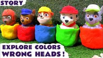 Paw Patrol Learn Colors with Thomas and Friends Play Doh Game, Matching Colours to stands - A fun toy story video for kids and preschool children