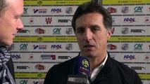 Après le match Amiens SC - SCO d'Angers, Christophe Pélissier