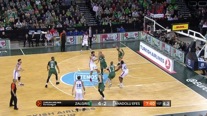 EuroLeague 2018-19 Highlights Regular Season Round 17 video: Zalgiris 58-79 Efes
