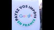 Le parti communiste se rend au siège de Google pour lui demander de payer ses impôts