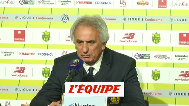 Halilhodzic «Je félicite les joueurs» - Foot - L1 - Nantes