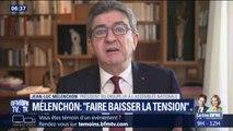 """Mélenchon veut des """"casques blancs"""" pour """"baisser les tensions"""" des manifestations de gilets jaunes"""