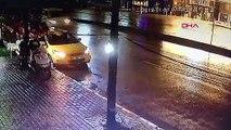 Beyoğlu'nda otomobilin çarptığı yaya öldü; çarpma anı kamerada