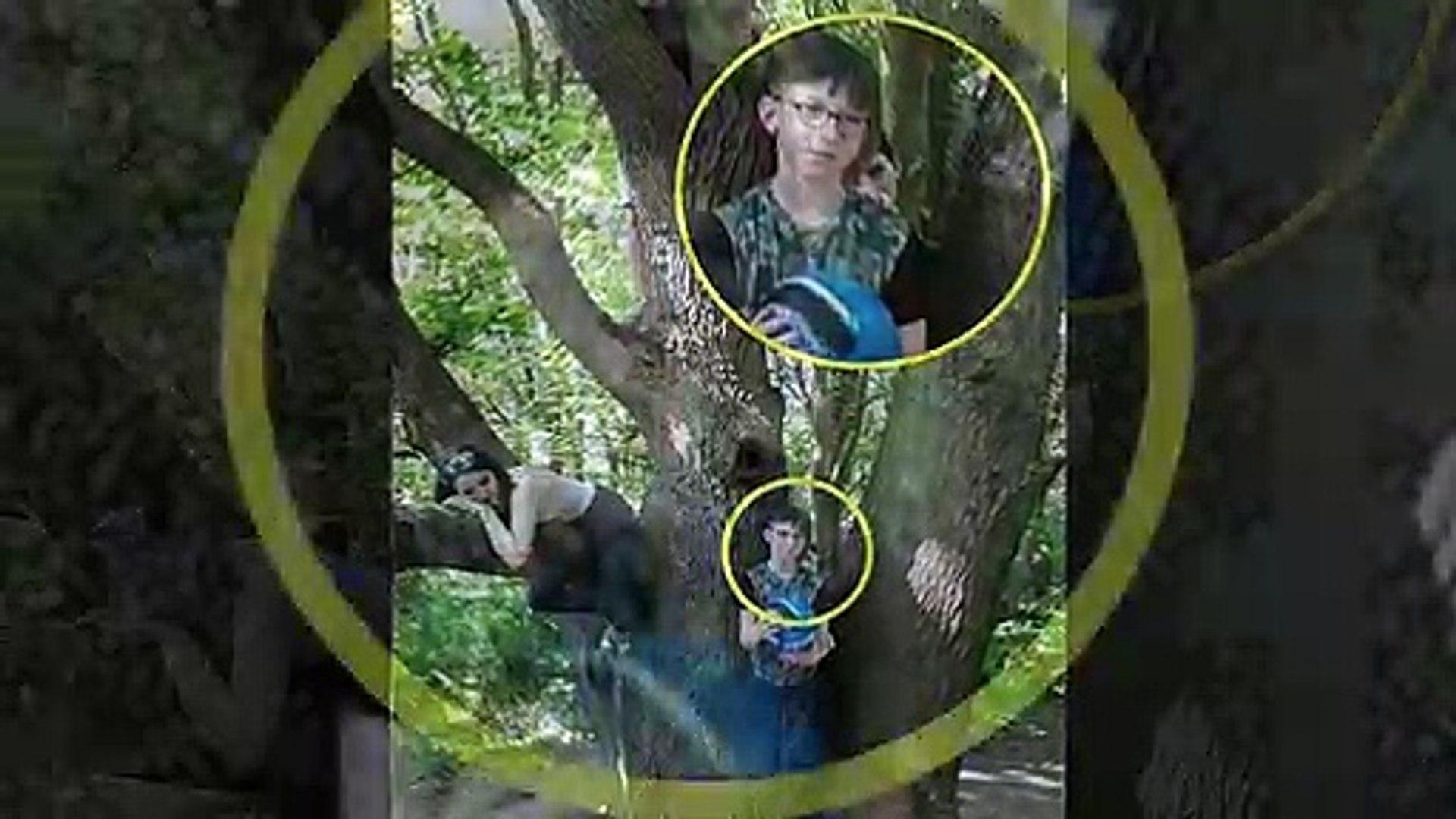 Mẹ chụp ảnh cho con trong rừng, về nhà xem lại tá hỏa thấy có bóng người đứng sau lưng