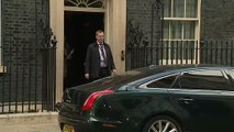 Theresa May departs Downing Street for PMQ's