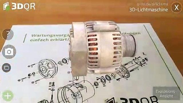 3DQR Lichtmaschine Demo