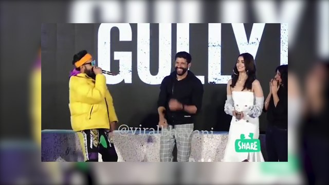 Ranveer Singh raps happy birthday for Farhan Akhtar at Gully boy trailer launch