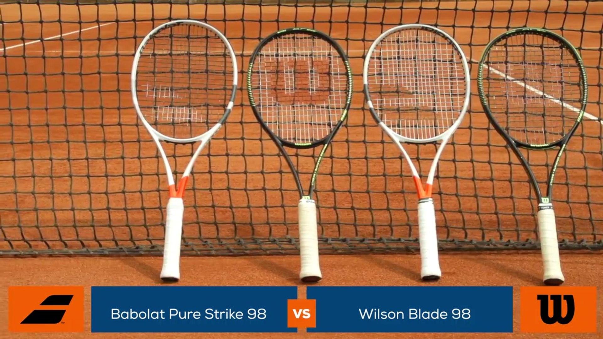 Tennis Test Matériel - On a testé pour vous la Wilson Blade 98 et la Babolat Pure Strike 98