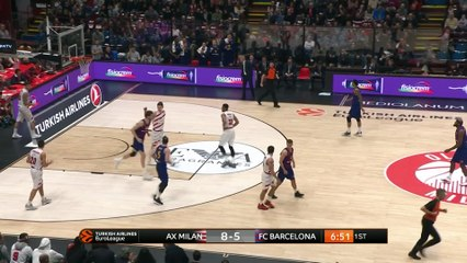 EuroLeague 2018-19 Highlights Regular Season Round 17 video: AX Milan 85-90 Barcelona