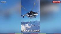 Alpes : la Gendarmerie réalise une manoeuvre spectaculaire  lors d'un sauvetage en hélicoptère