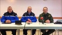JURA Conférence de presse de l'armée de l'Air à Mignovillard après le crash du Mirage 2000D
