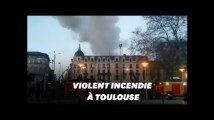 """Un incendie à Toulouse fait 20 blessés dont 2 en """"urgence absolue"""""""