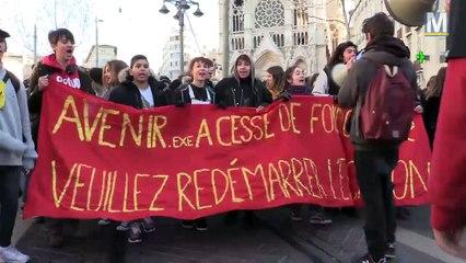 Les lycéens marseillais de retour dans la rue