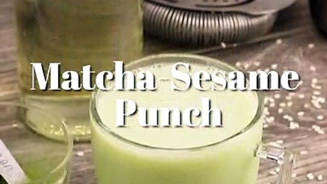 Matcha-Sesame Punch Cocktail Recipe - Liquor.com