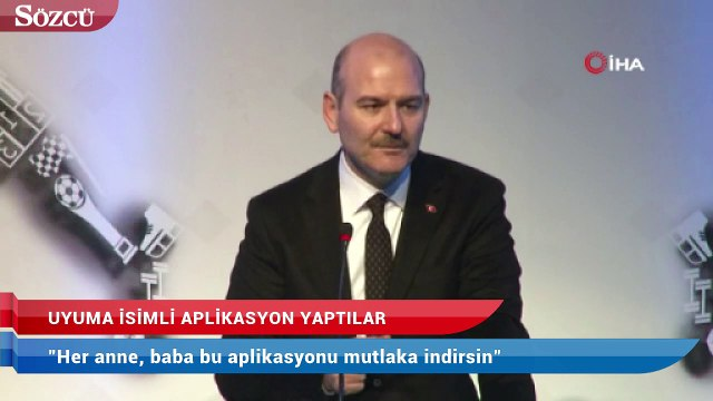 İçişleri Bakanı Süleyman Soylu:  Her anne, baba bu aplikasyonu mutlaka indirsin