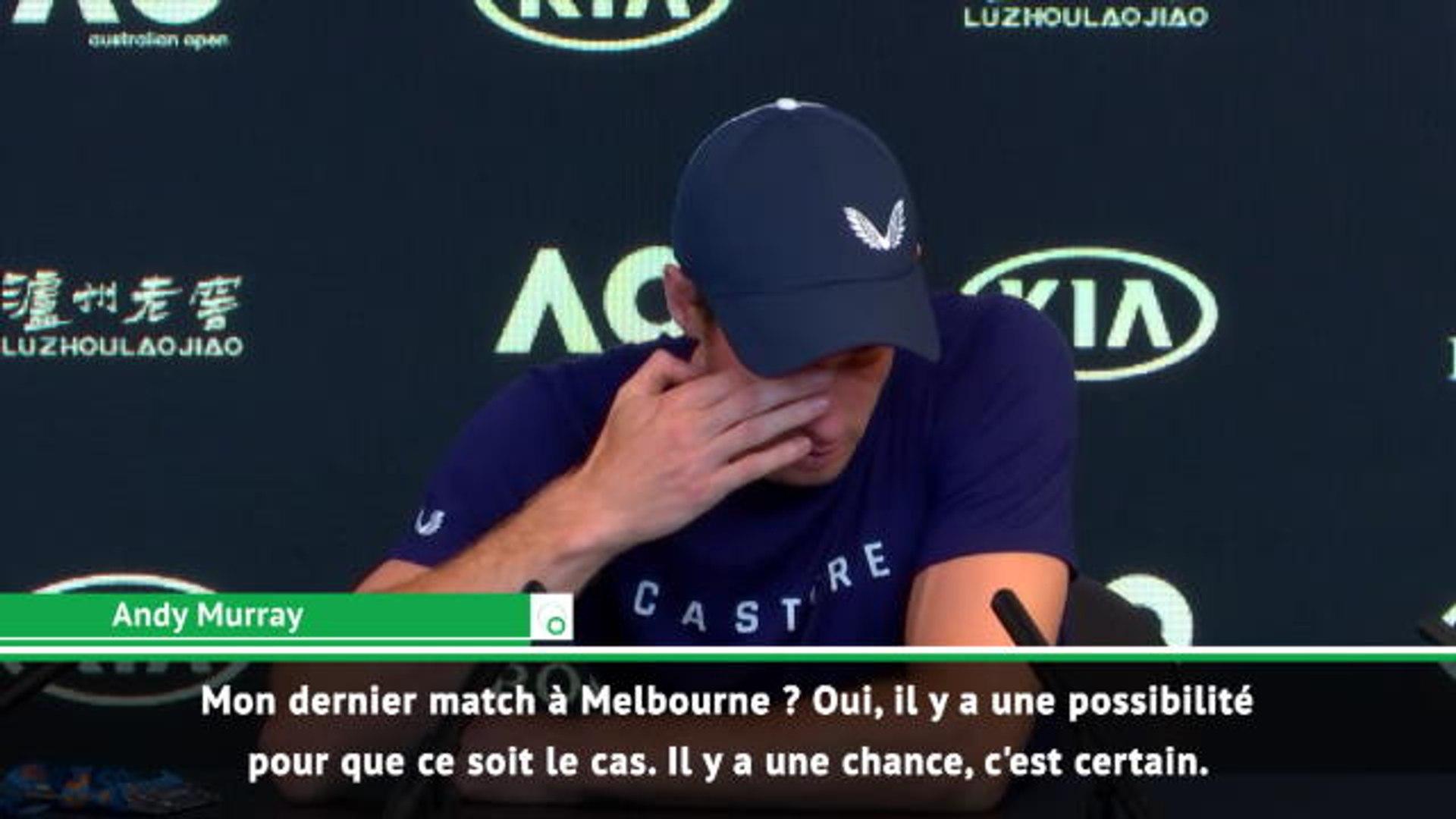 Open d'Australie - Murrray : ''Mon dernier match à Melbourne ? Il y a des chances