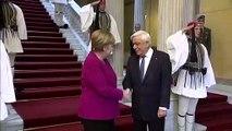 Almanya Başbakanı Merkel, Yunanistan Cumhurbaşkanı Pavlopoulos ile görüştü - ATİNA