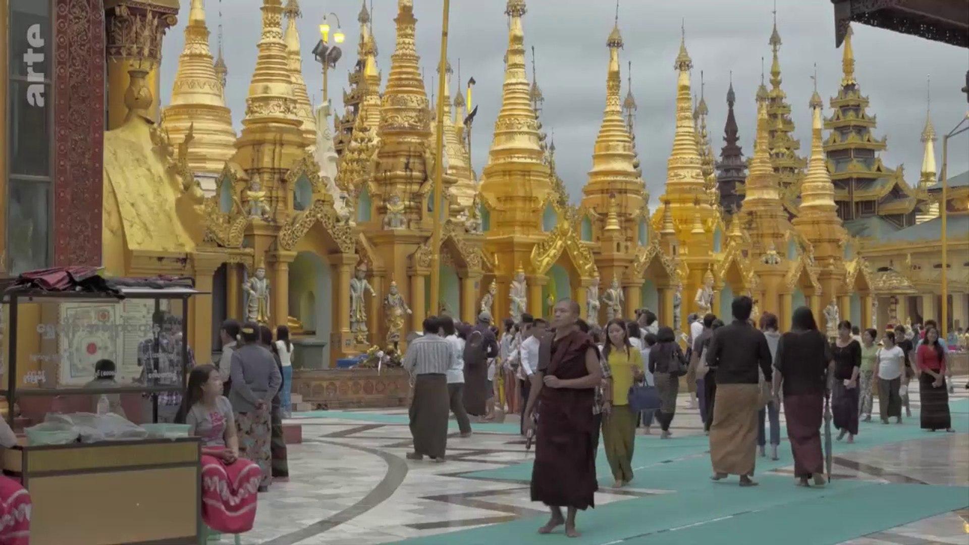Myanmar, la pagode de Shwedagon à Yangon