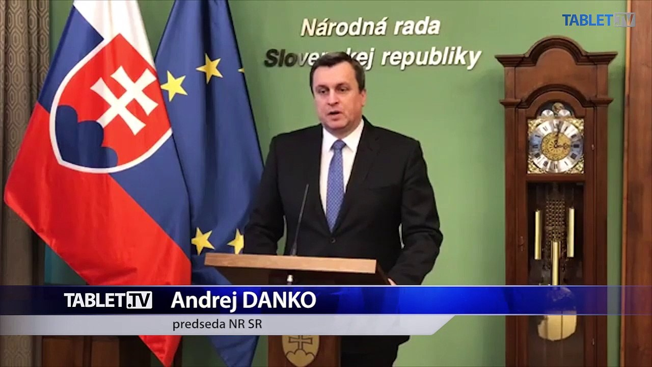 ZÁZNAM: Stanovisko predsedu Národnej rady SR Andreja Danka