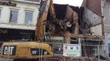 Démolition des bâtiments à la Grand-Place de Mouscron