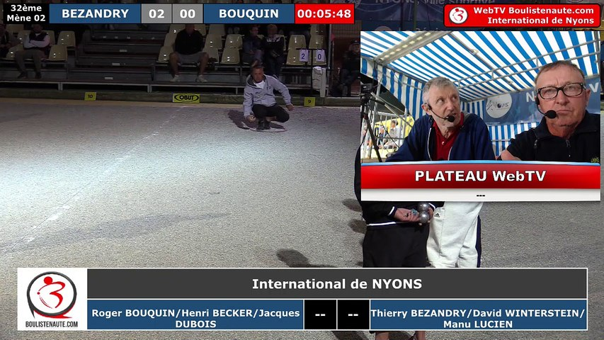 International de Nyons 2018 : 32e BEZANDRY vs BOUQUIN