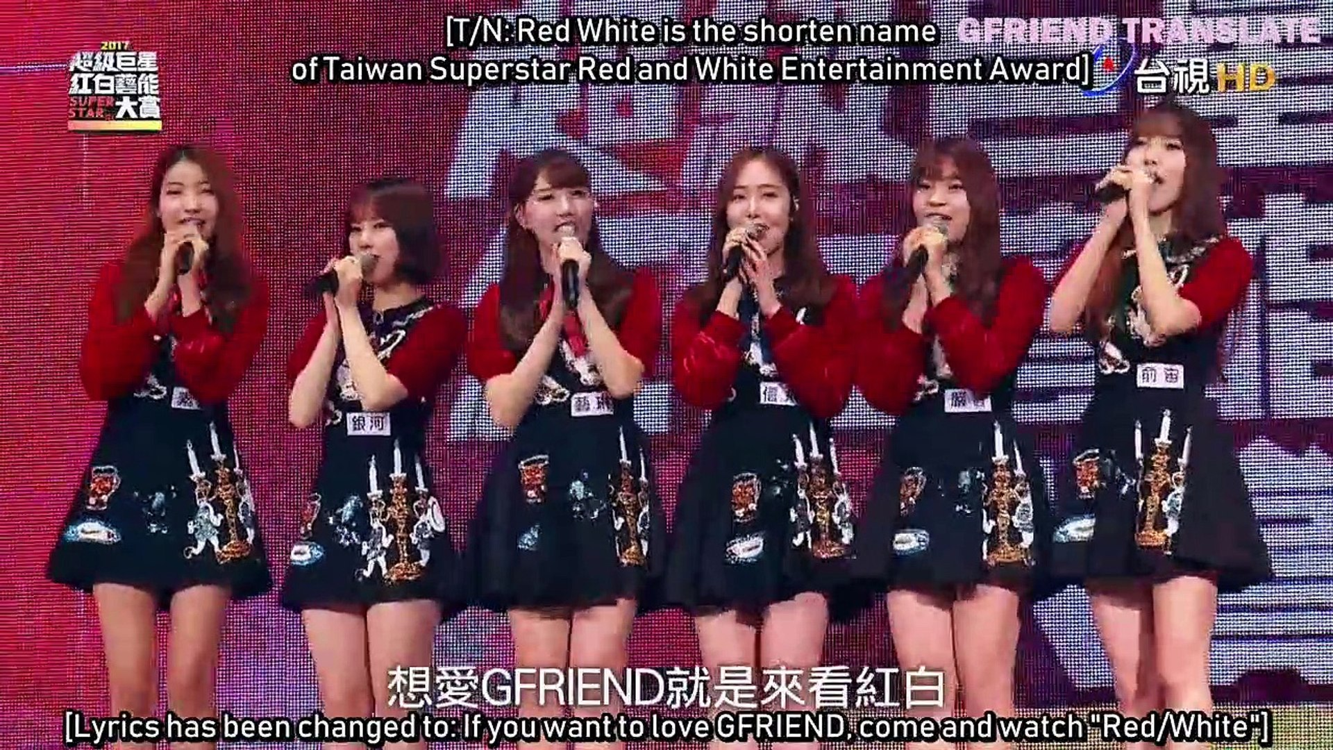 [ENG SUB] 170127 GFRIEND 2017 Taiwan Superstar Red and White Entertainment Awards