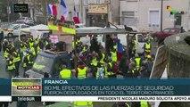 """Protestas de """"chalecos amarillos"""" dejan 240 detenidos en Francia"""