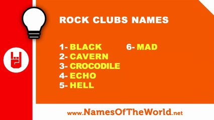 10 rock clubs names - the best names for your company - www.namesoftheworld.net