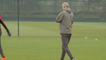 Arsene Wenger is being funny with his players