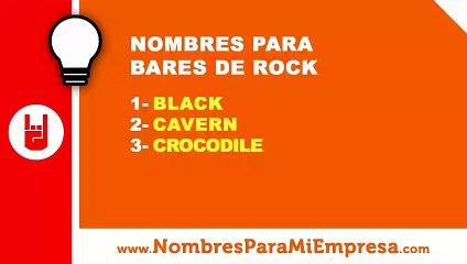 10 nombres para bares de rock - nombres para empresas - www.nombresparamiempresa.com