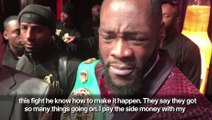 """""""Eddie Hearn is just another white man milking a black man"""" says Deontay Wilder"""