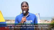 Drogba launches Peace and Sport campaign in Colombia