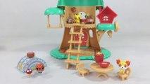Pokemon Petite Pals Escape in the Forest Playset Pikachu Oshawott Fennekin || Keith's Toy Box