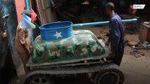 Сомалийский механик стал популярен, построив танк из металлолома