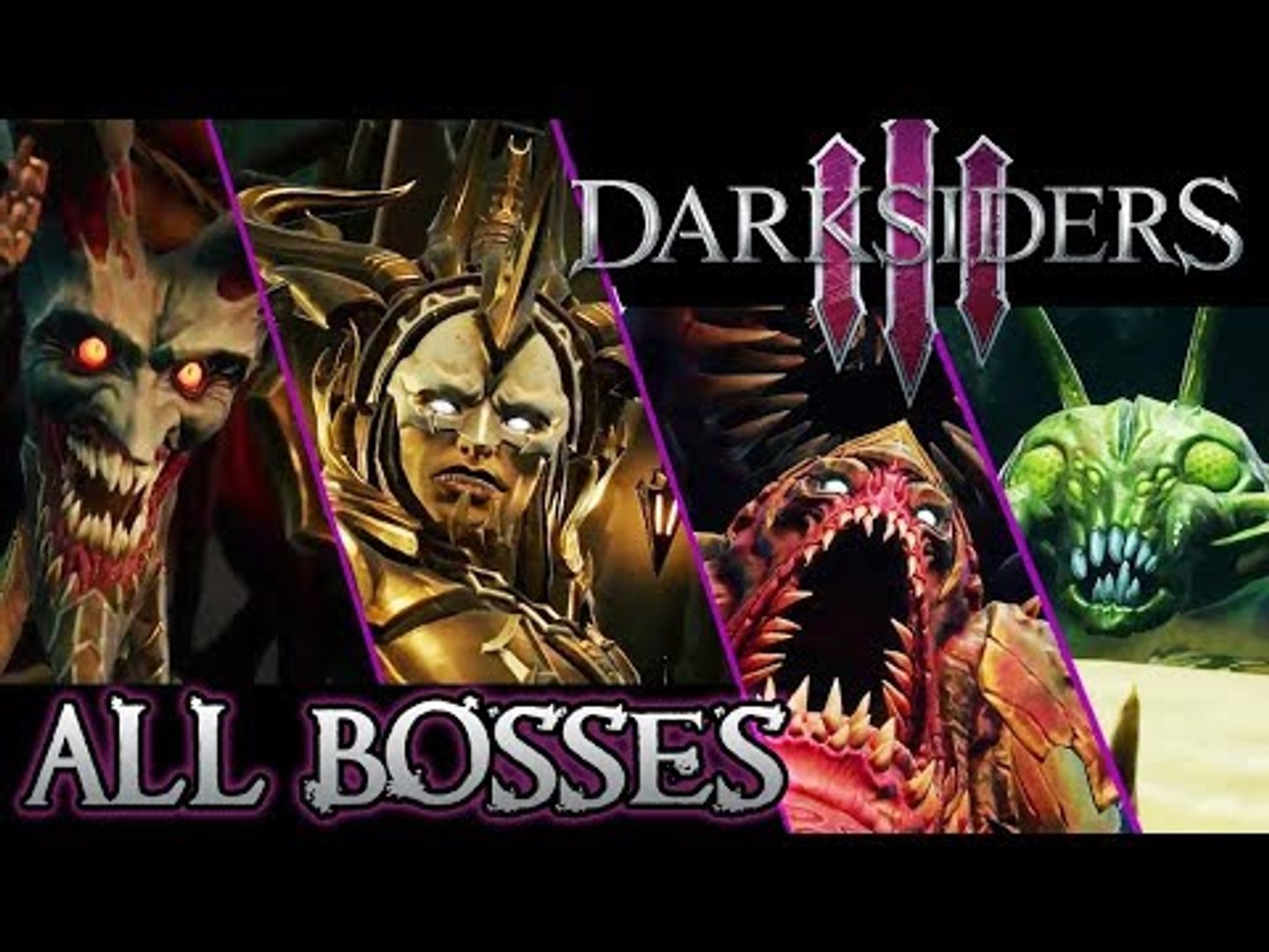 Darksiders 3 All Bosses | Final Boss (PS4, XB1)