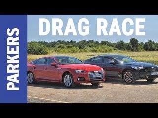 Kia Stinger vs Audi A5 Sportback DRAG RACE | Which is faster?