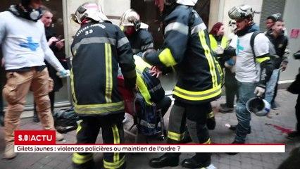 Gilets jaunes : un manifestant a été gravement blessé, certainement par un tir de flashball, les images sont impressionnantes . Une enquête est en cours.
