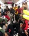 La chorégraphie géniale dun groupe de danseurs de hip-hop dans le métro de New-York