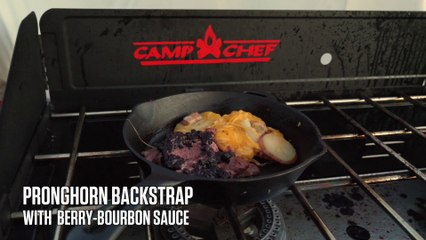 Pronghorn Backstrap with Berry-Bourbon Sauce