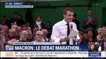Au bout de 6h, un maire arrive à poser une colle à Emmanuel Macron