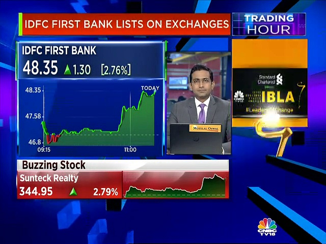 IDFC First Bank lists on the exchanges today