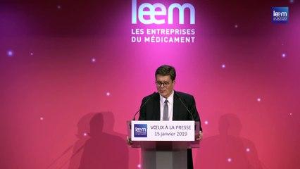 Philippe Tcheng : Vœux du Leem à la presse, 15.01.2019