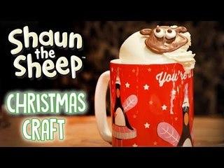 Christmas Hot Chocolate Craft - Shaun the Sheep