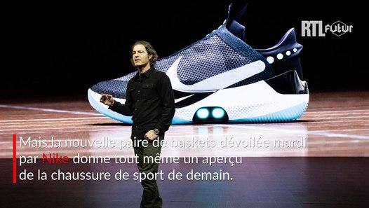 VIDÉO Nike lance la basket du futur : auto laçante, intelligente et rechargeable