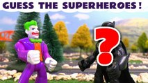Guess the Superhero with The Joker and The Riddler from DC Universe Batman, with help from Thomas and Friends! They are all Marvel Avengers 4 or DC Universe Superheroes, can you guess them all? A fun toy story for kids and preschool children.