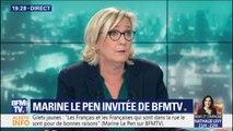 """Marine Le Pen: """"On ne menace pas la presse et on n'agresse pas la presse. Point."""""""