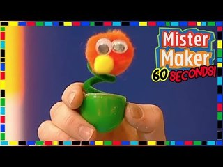 Wobbly Bug  ️  ️ - HOW TO MAKE IN 60 SECONDS | Mister Maker