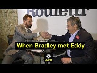 Sir Bradley Wiggins meets Eddy Merckx